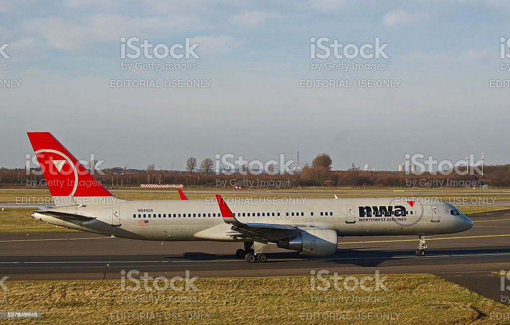 Boeing 757-200 of Northwest Airlines stock photo
