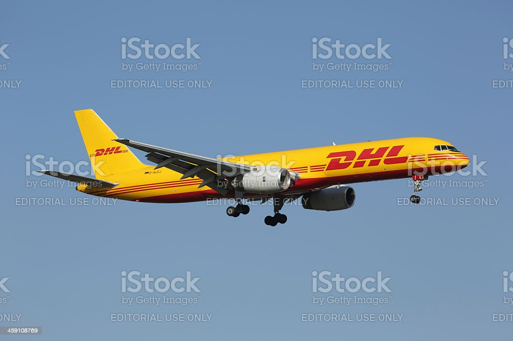 DHL Boeing 757-200PF stock photo