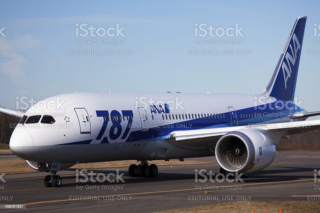 Boeing 787 All Nippon Airways in Everett stock photo