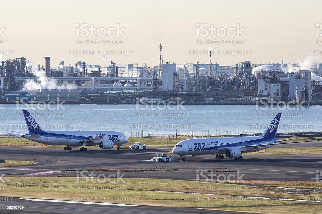 Boeing 787 Dreamliner - All Nippon Airways royalty-free stock photo
