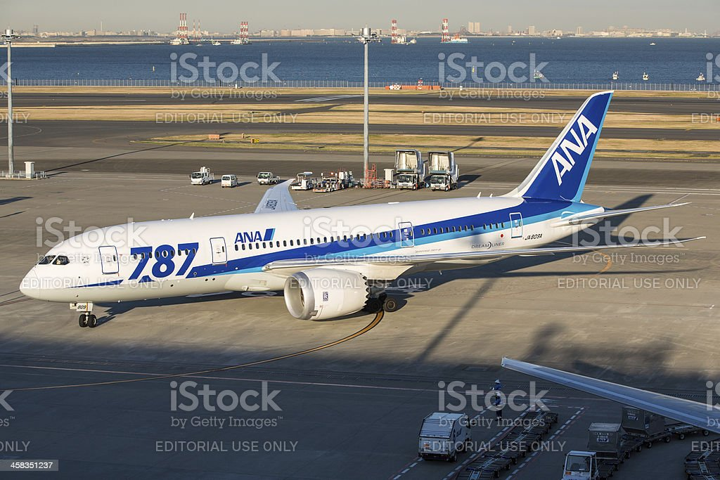 Boeing 787 Dreamliner - All Nippon Airways royalty-free stock photo