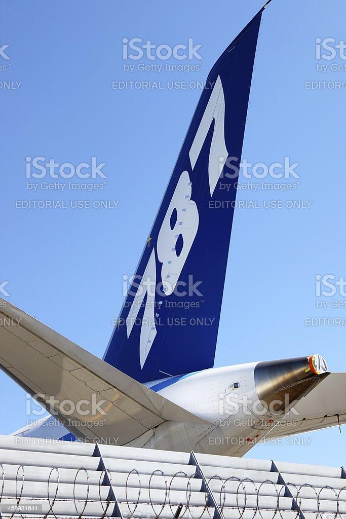 Boeing 787 Dreamliner. stock photo