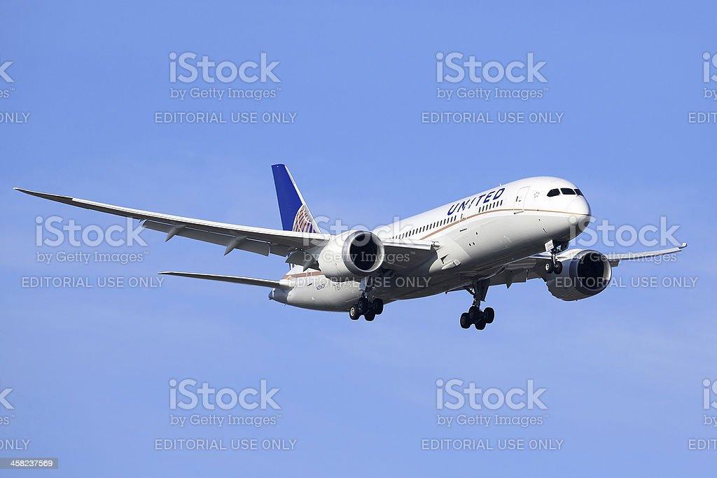Boeing 787 Dreamliner - United Airlines stock photo