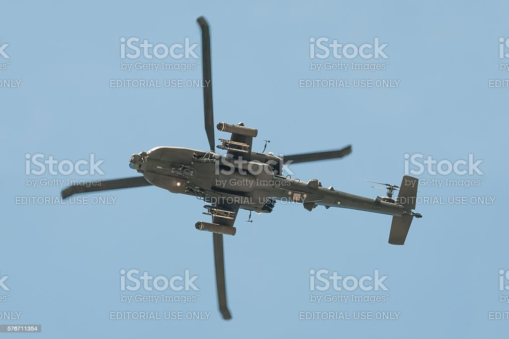 Boeing AH-64 Apache Helicopter stock photo
