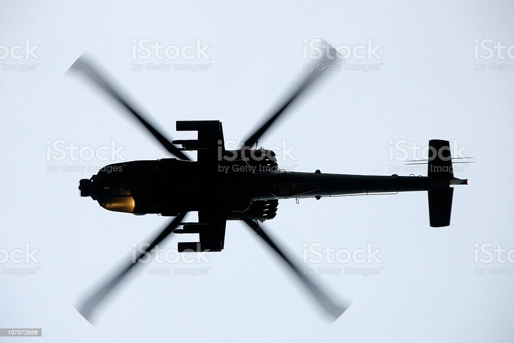 Boeing AH-64D (Apache) Attack Helicopter stock photo