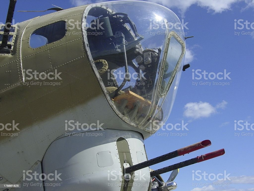 Boeing B 17 Flying Fortress Nose and chin turret royalty-free stock photo