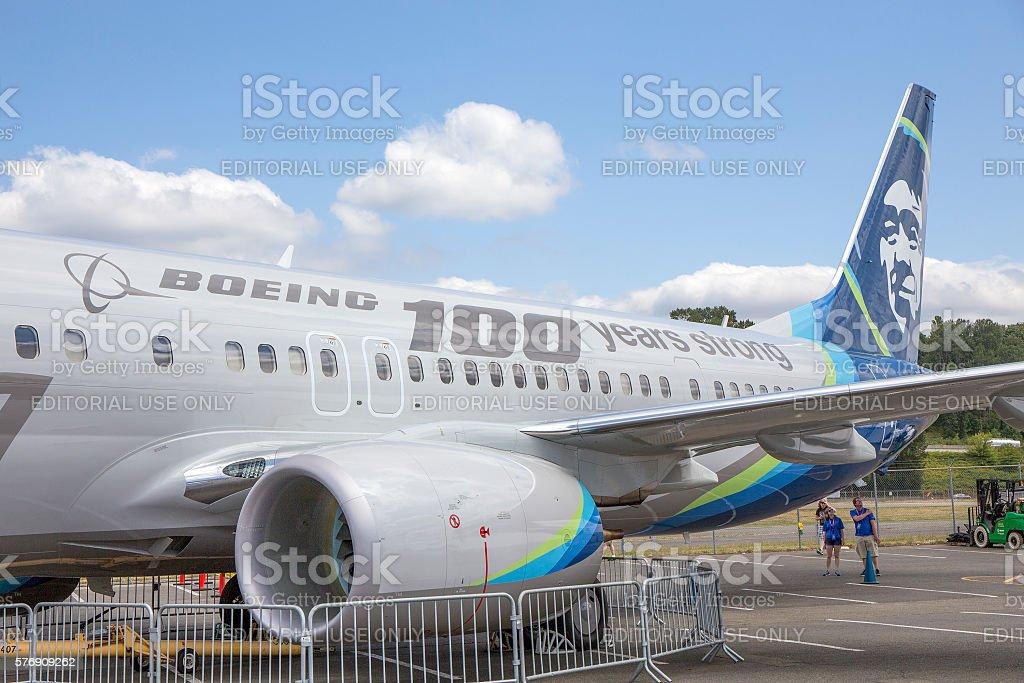 Boeing B-737 900ER stock photo