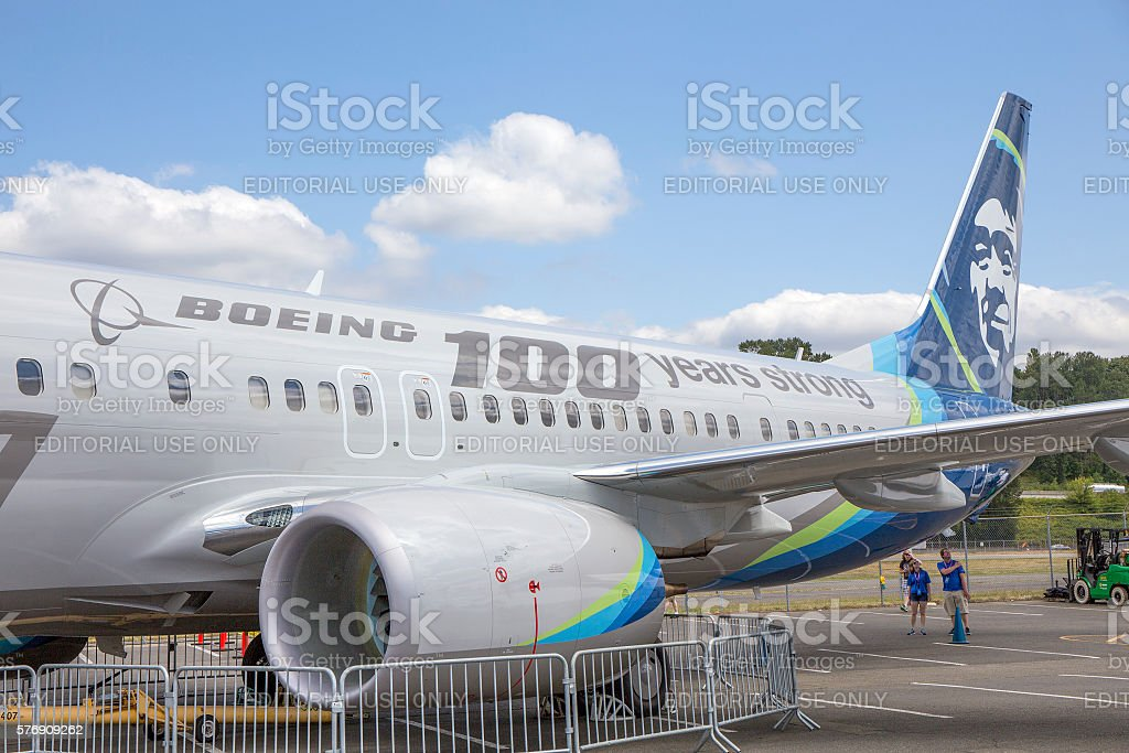 Boeing B-737 900ER stock photo