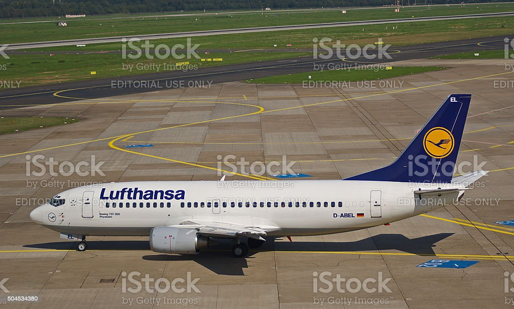 "Boeing B737-300 of Lufthansa ""Pforzheim"" stock photo"