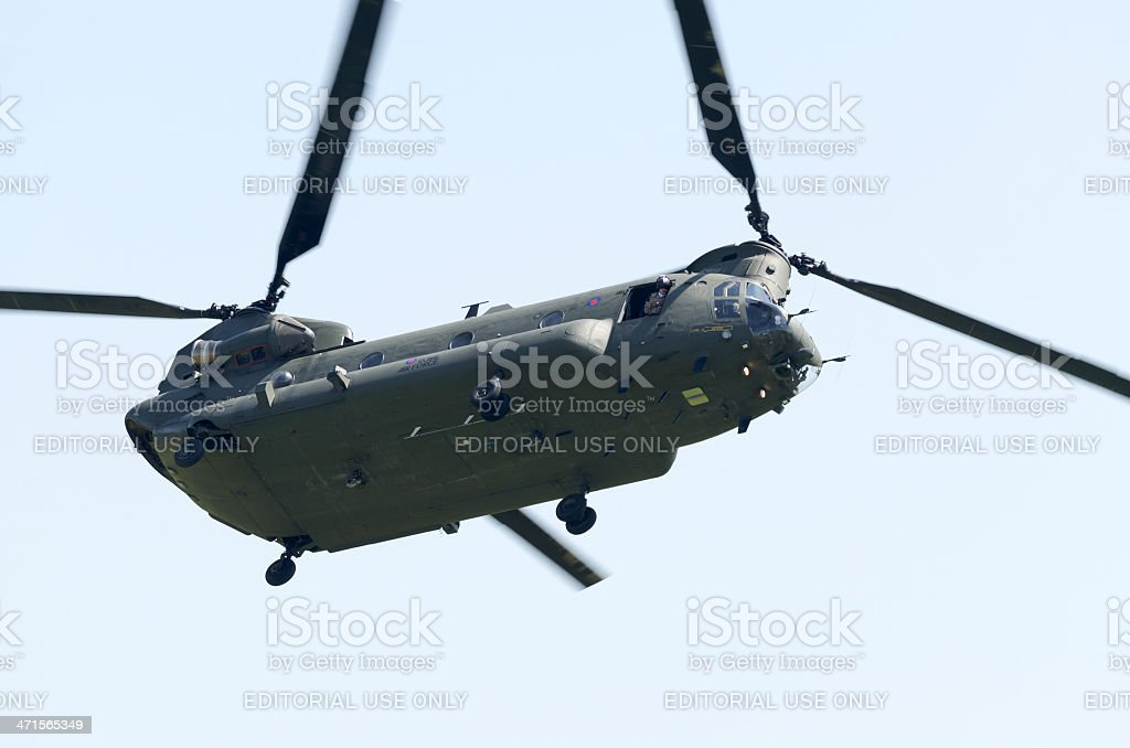 Boeing CH-47 Chinook military helicopter royalty-free stock photo