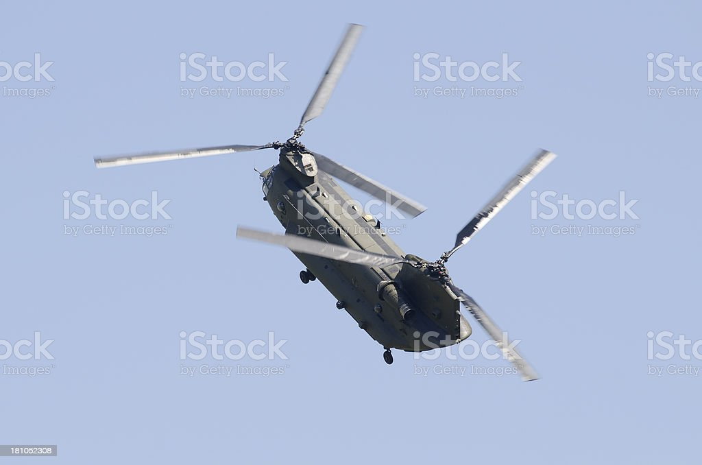 Boeing CH-47 Chinook military transport helicopter royalty-free stock photo