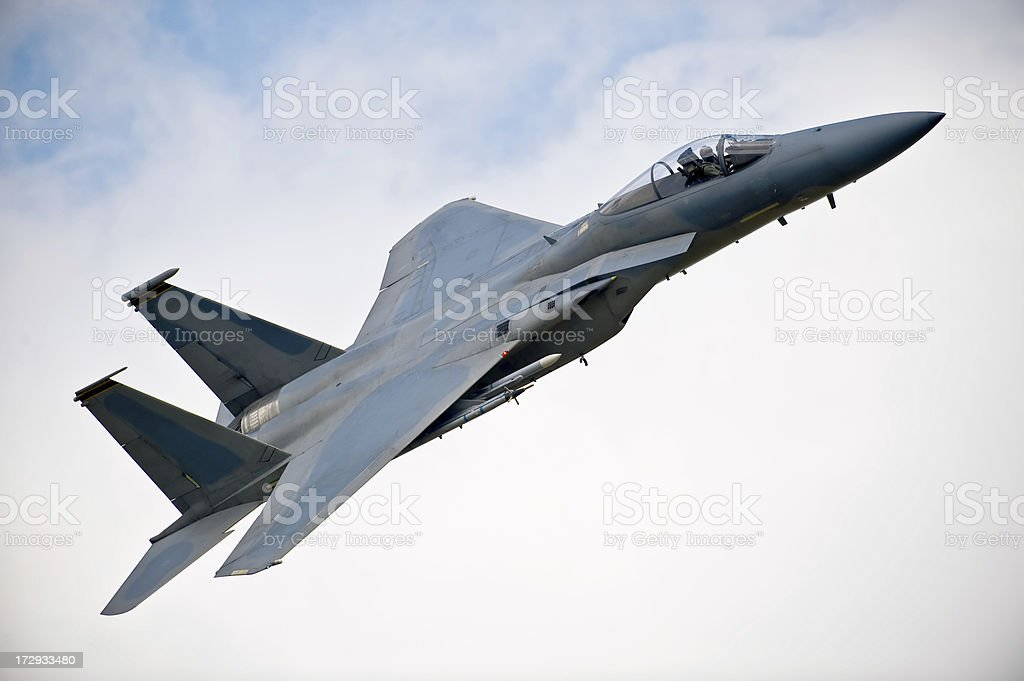 Boeing F15E Eagle all-weather attack aircraft royalty-free stock photo