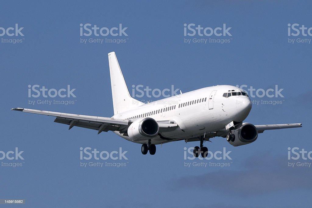 Boeing in flight stock photo