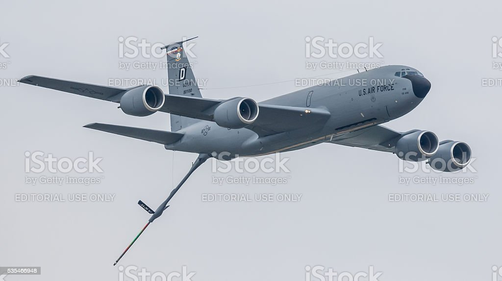 Boeing KC-135 military tanker aircraft stock photo