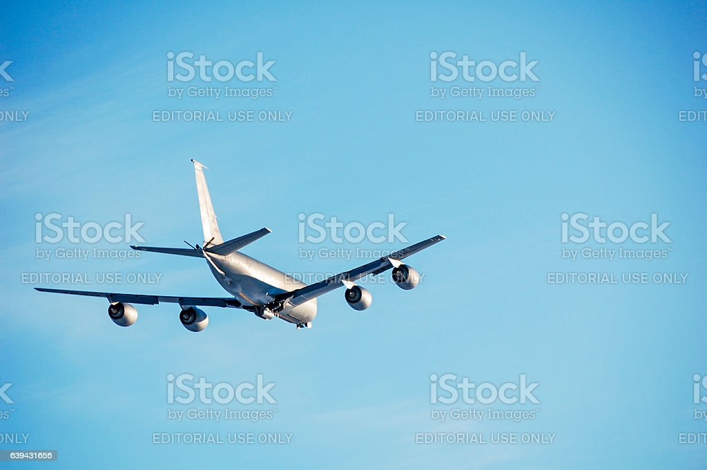 Boeing KC-135 US Airforce Stratotanker – Military Plane stock photo