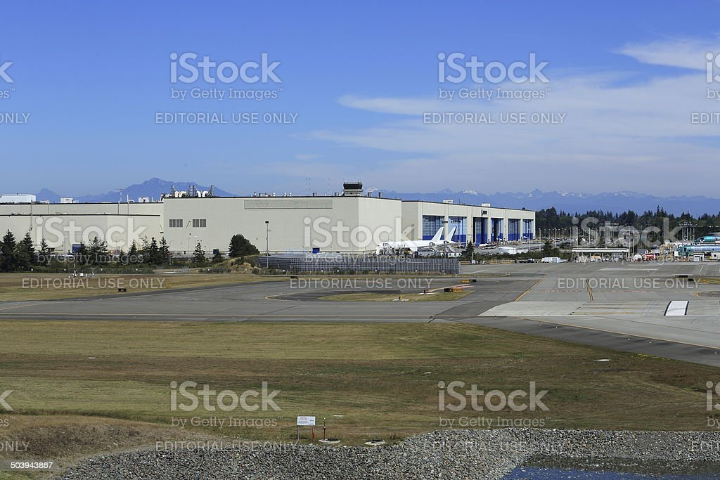 Boeing Largest Building stock photo