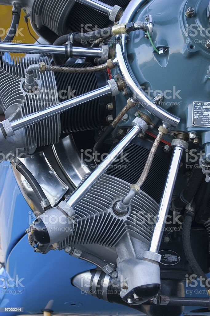 Boeing Stearman Engine royalty-free stock photo