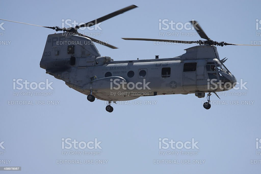 Boeing Vertol CH-46 Sea Knight royalty-free stock photo
