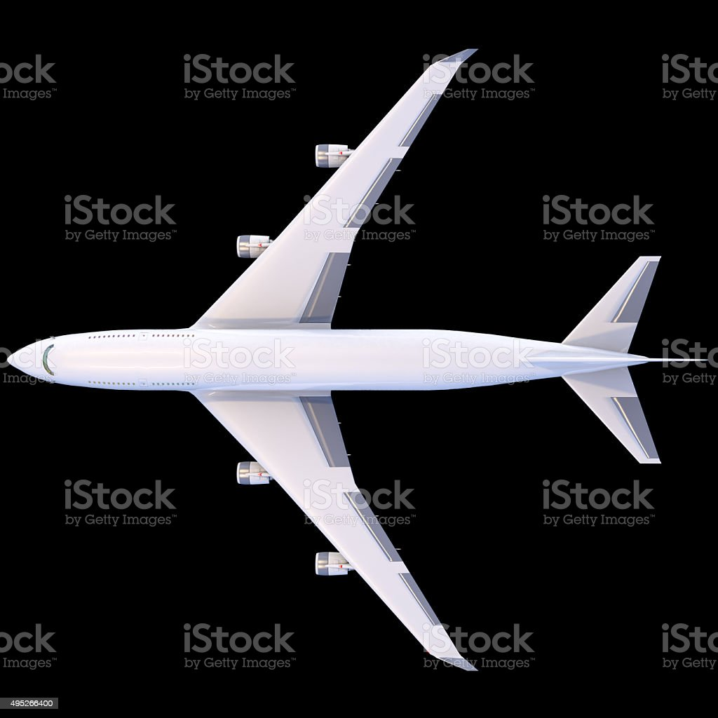 Boeing-747. Plane transport stock photo