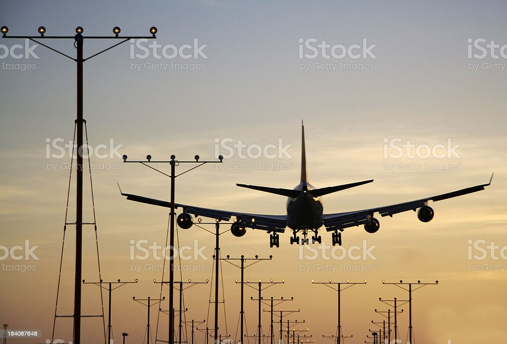 boeing747 silhouette royalty-free stock photo