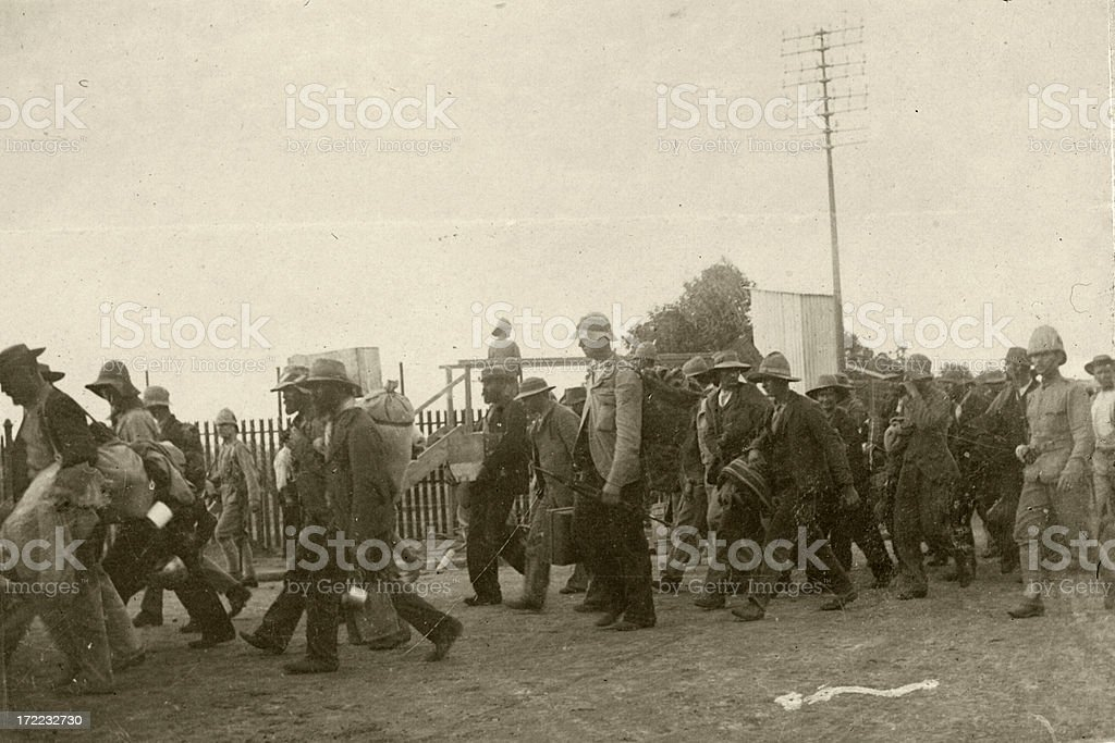 Boer Prisoners of War stock photo