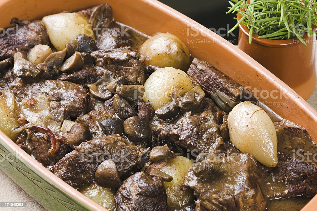 Boeuf Bourguignon Close-up Hz stock photo