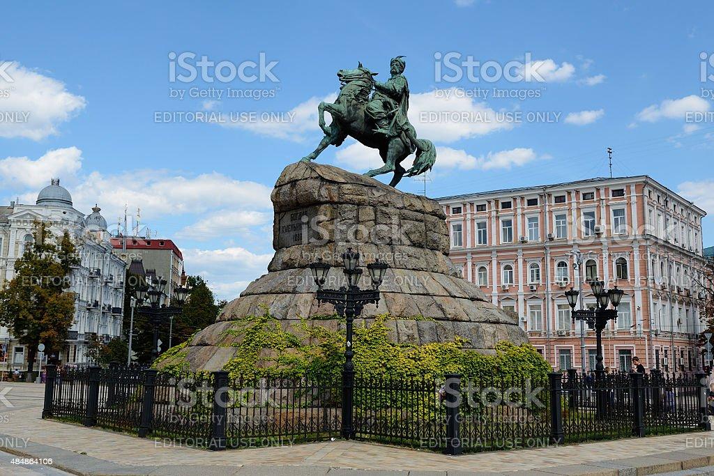 Bogdan Khmelnitsky monument, Kiev stock photo