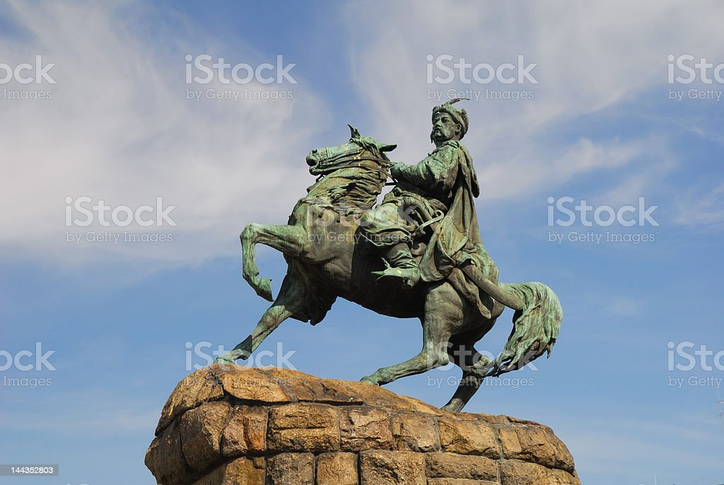 Bogdan Khmelnytsky monument in Kiev royalty-free stock photo