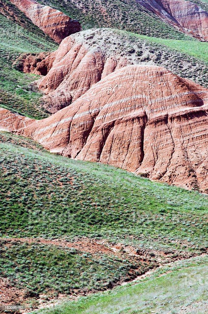 Bogdo mountain slope. royalty-free stock photo