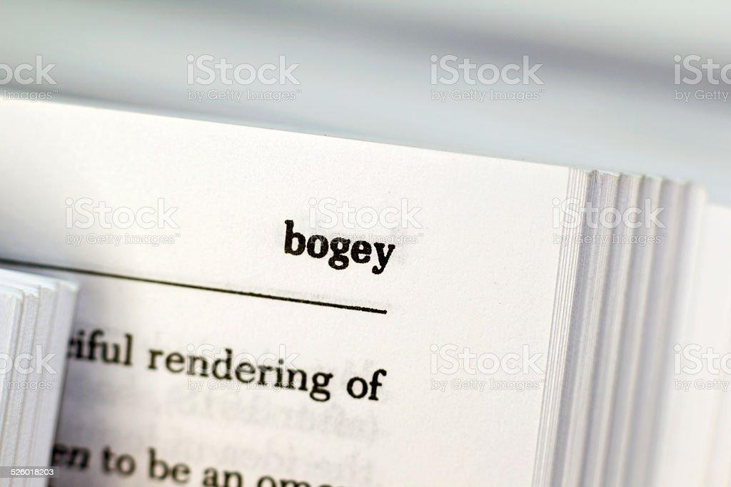 Bogey stock photo