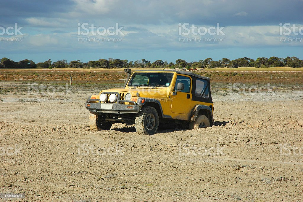 Bogged 4x4 royalty-free stock photo