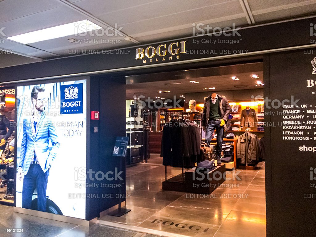 Boggi Clothing store at Linate airport, Milan stock photo