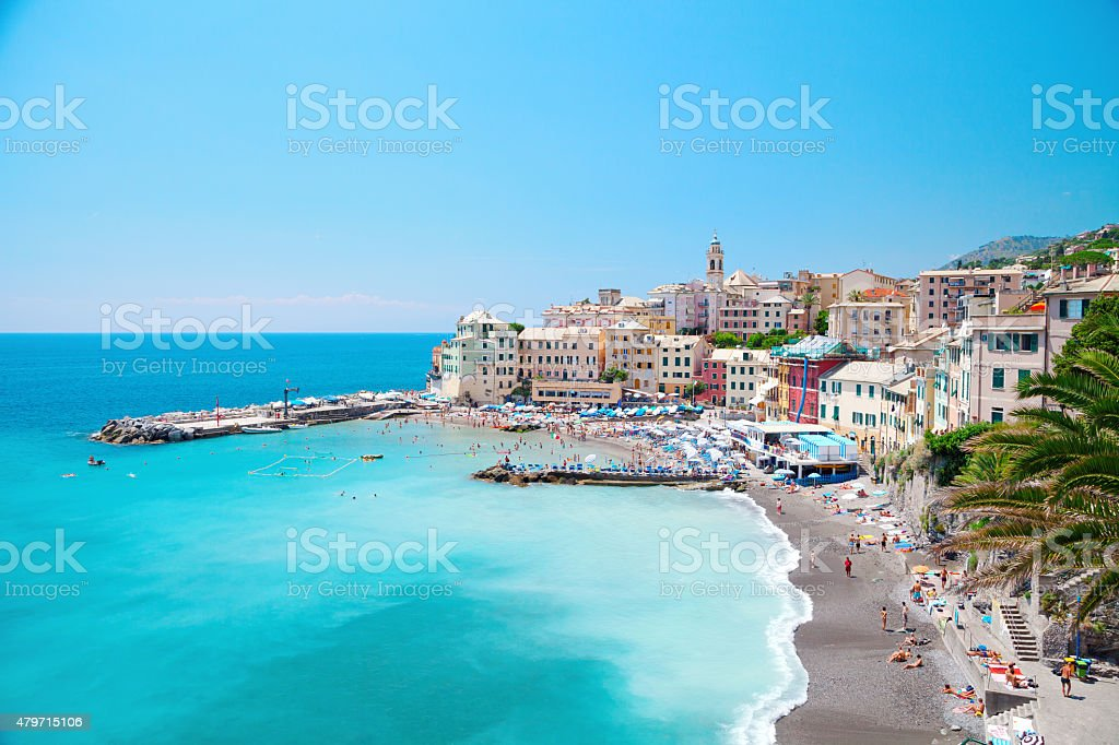 bogliasco liguria genova italy stock photo