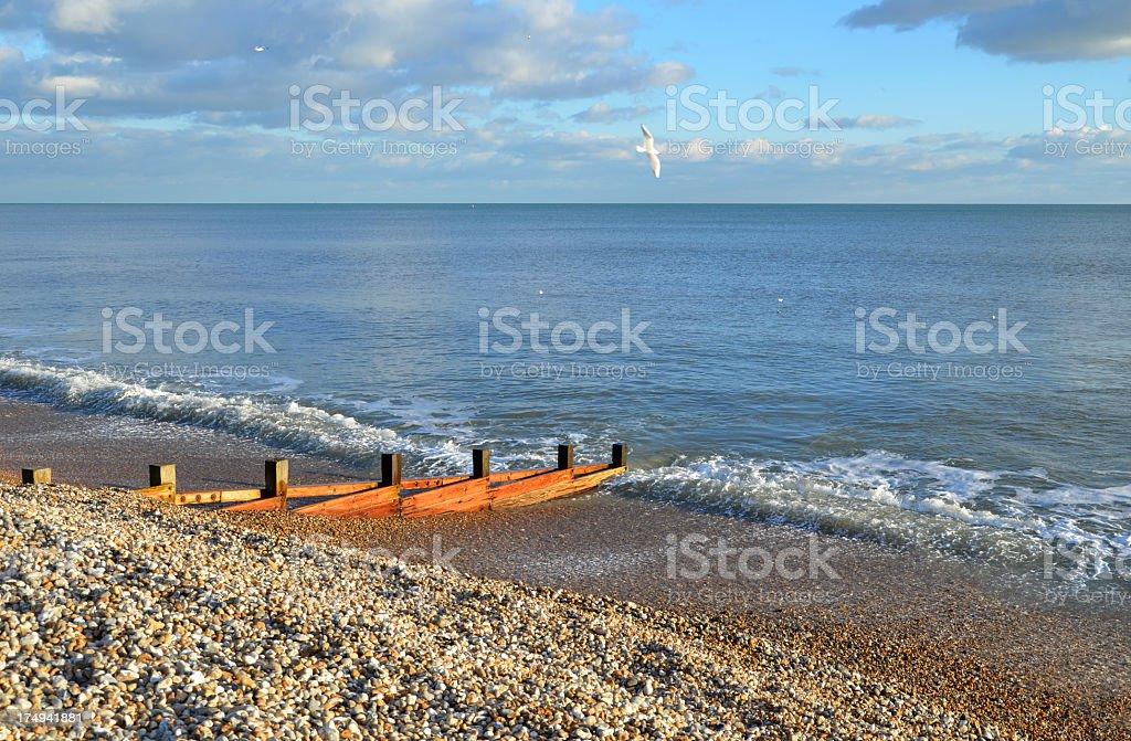 Bognor Beach stock photo