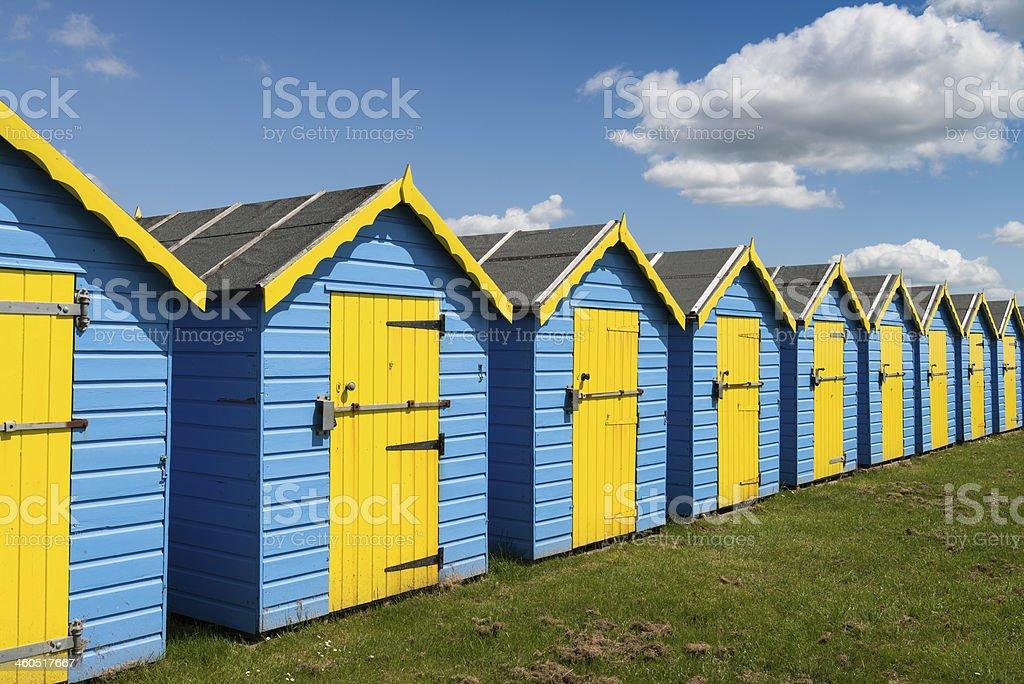 Bognor Regis Beach Huts stock photo