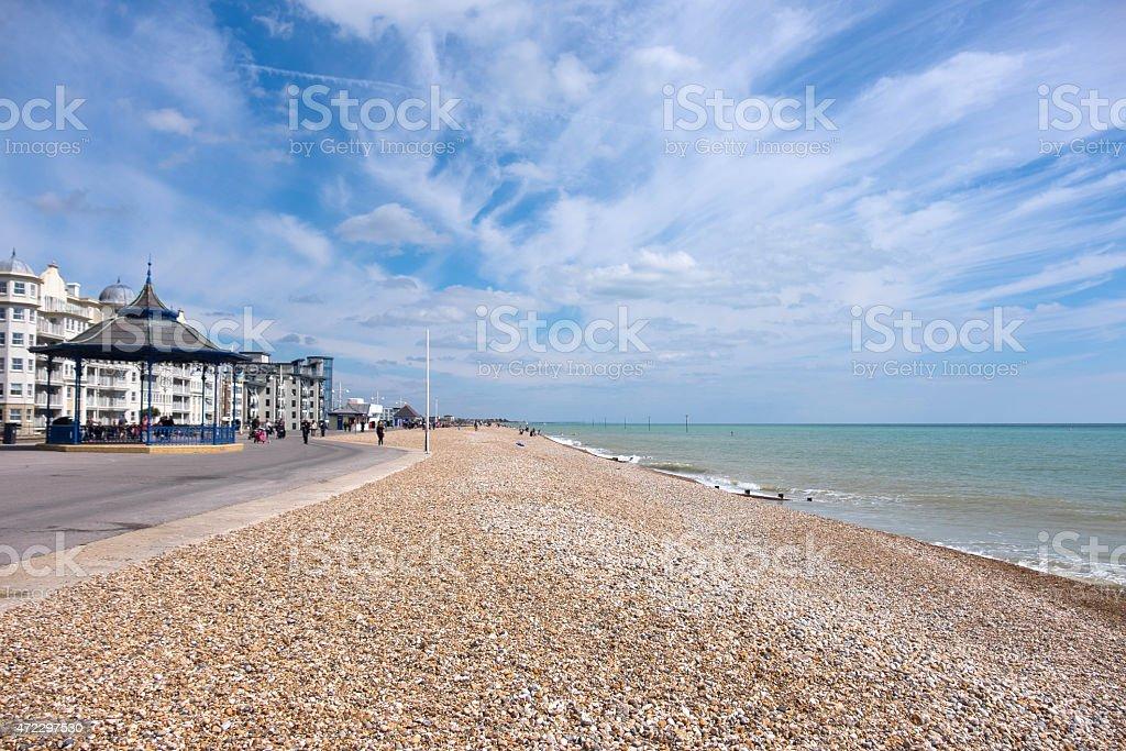 Bognor Regis seafront, West Sussex, UK stock photo