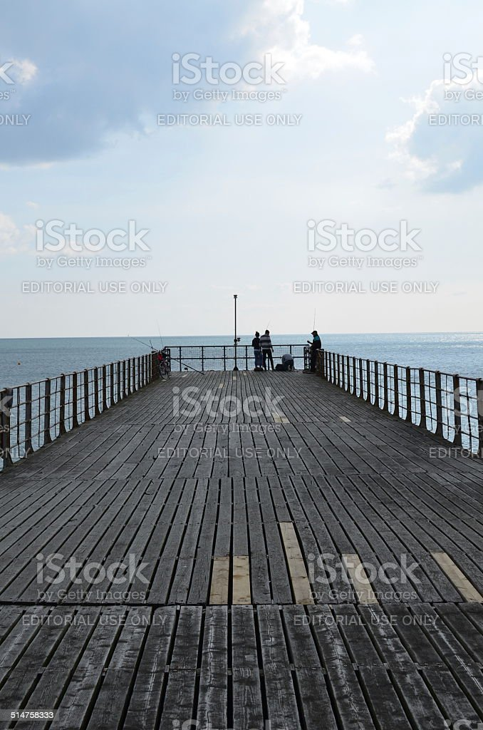 Bognor Regis Victorian pier. stock photo
