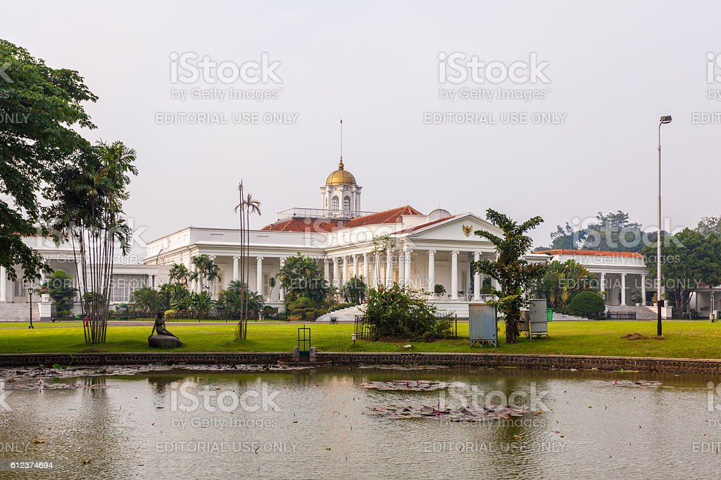 Bogor Palace in Bogor, Indonesia stock photo