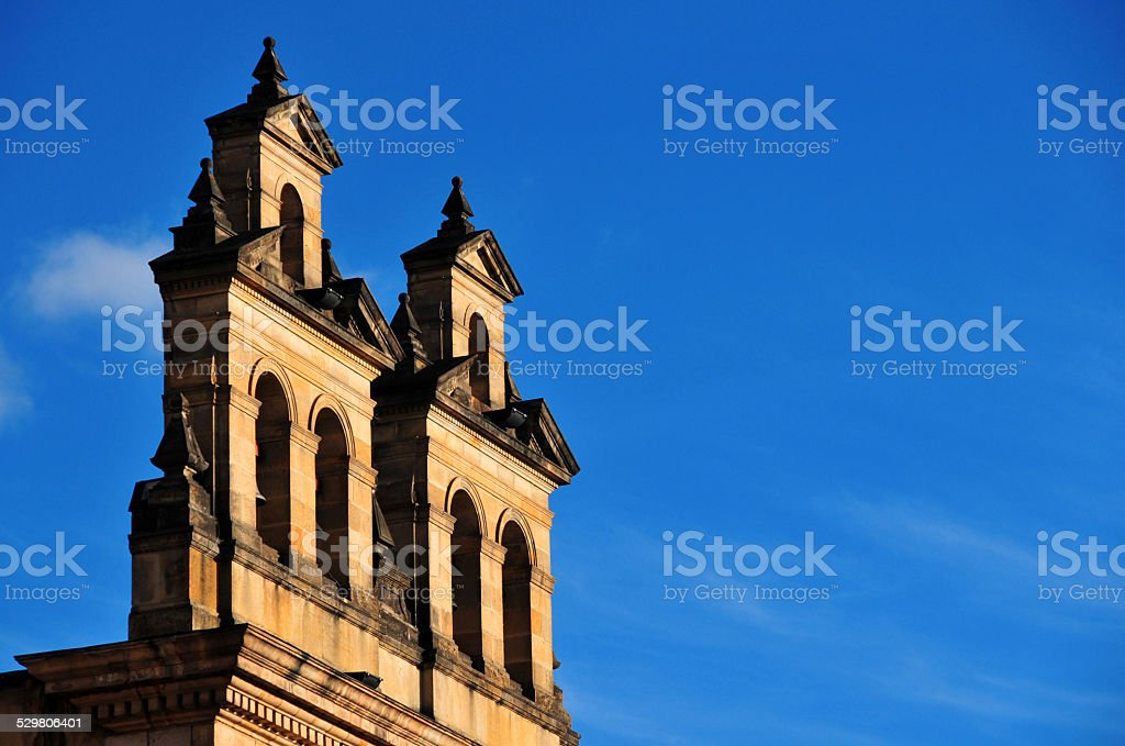 Bogotá, Colombia: bell gables stock photo