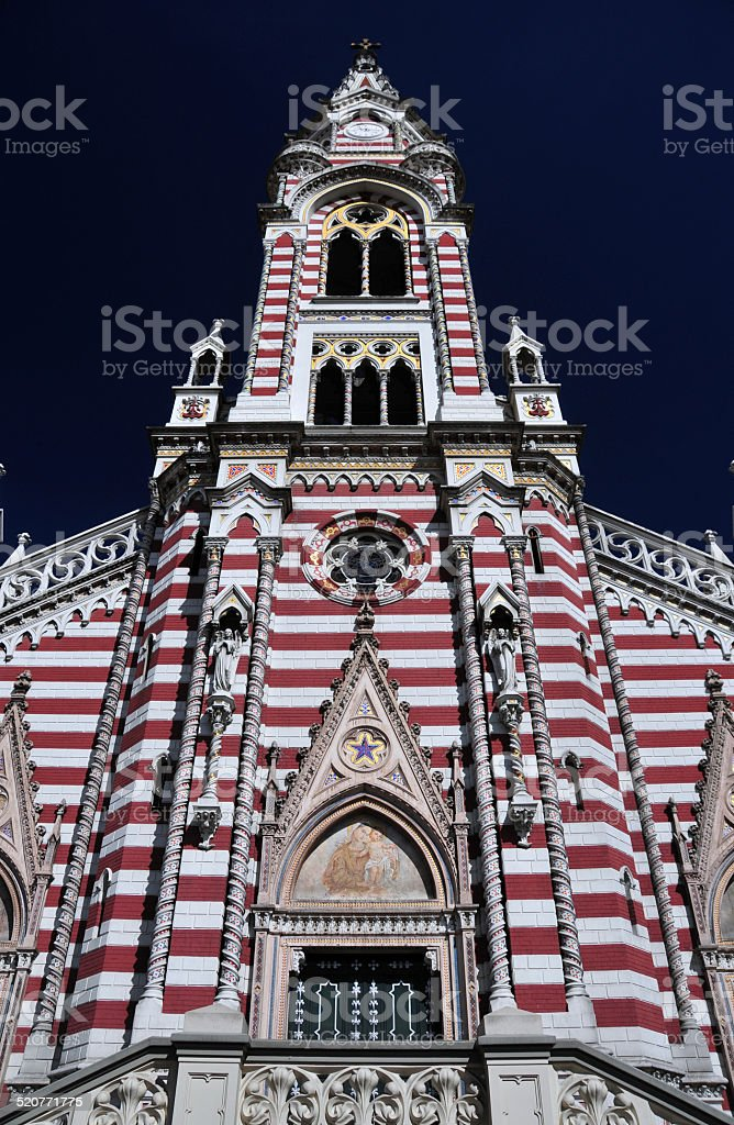 Bogot?, Colombia: Carmen church stock photo