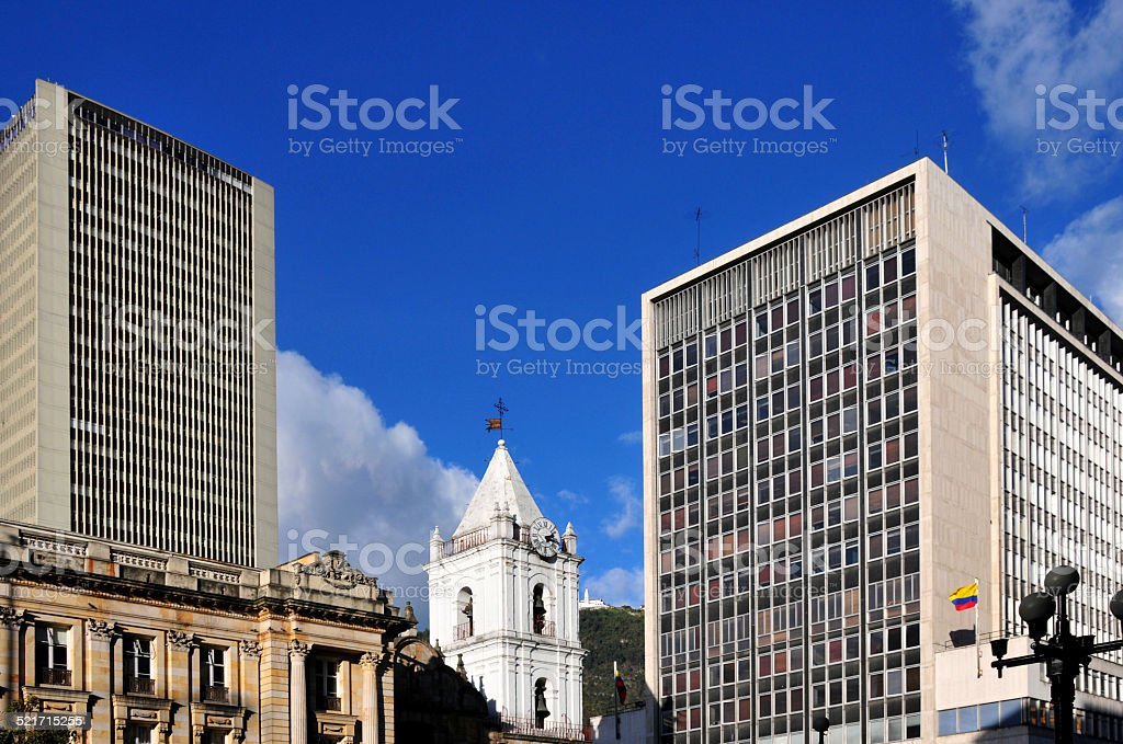 Bogot?, Colombia: old and new buildings stock photo