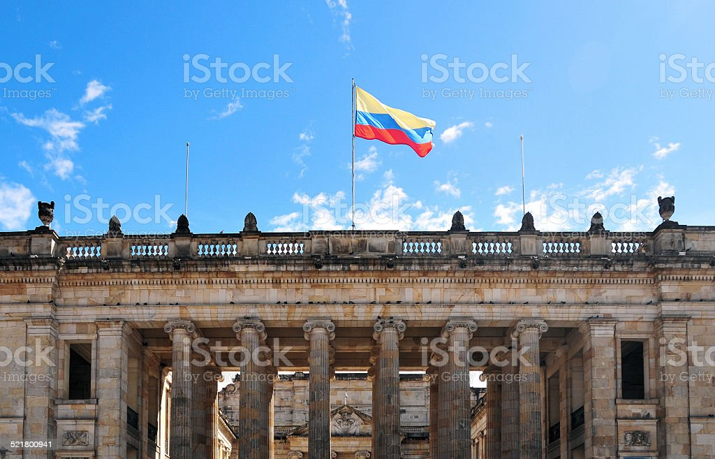 Bogot?, Colombia: the National Capitol stock photo