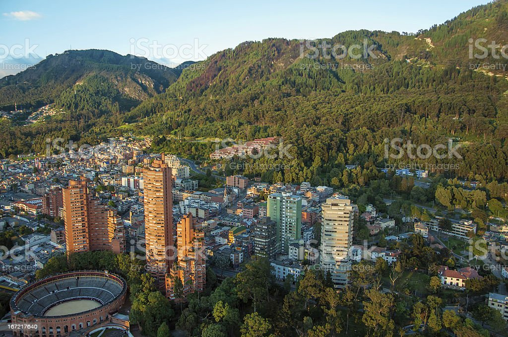 Bogota and the Andes Mountains stock photo