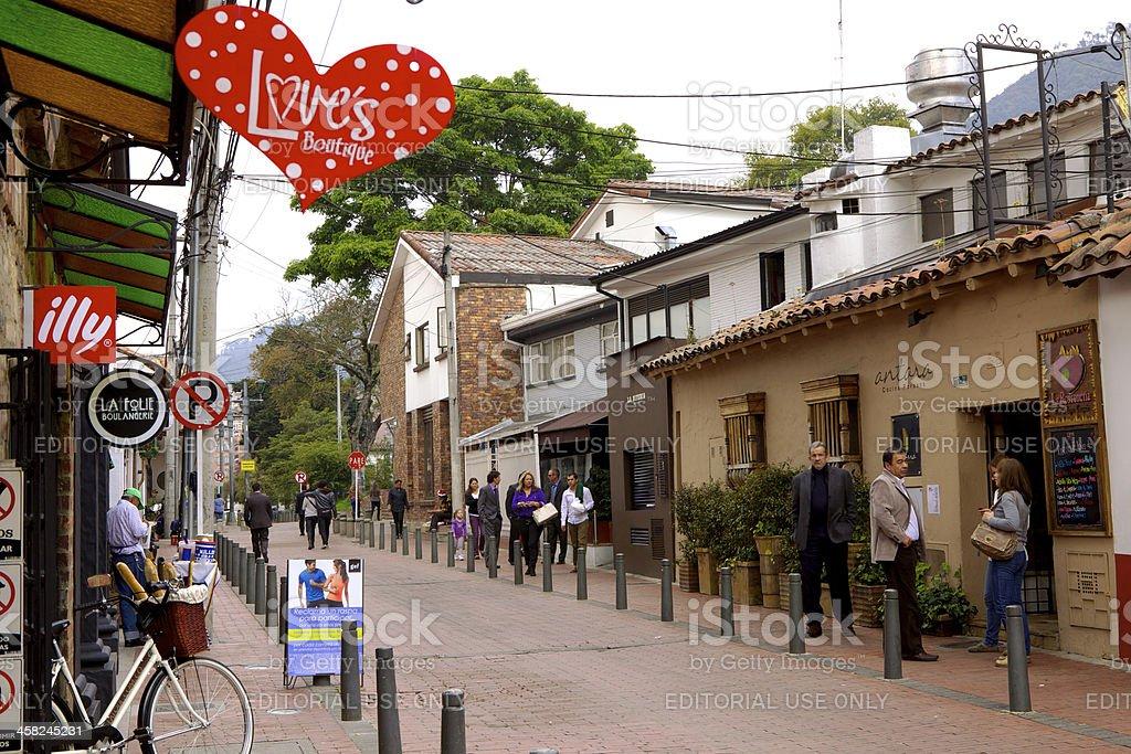 Bogota, Colombia - Carrera 6A royalty-free stock photo