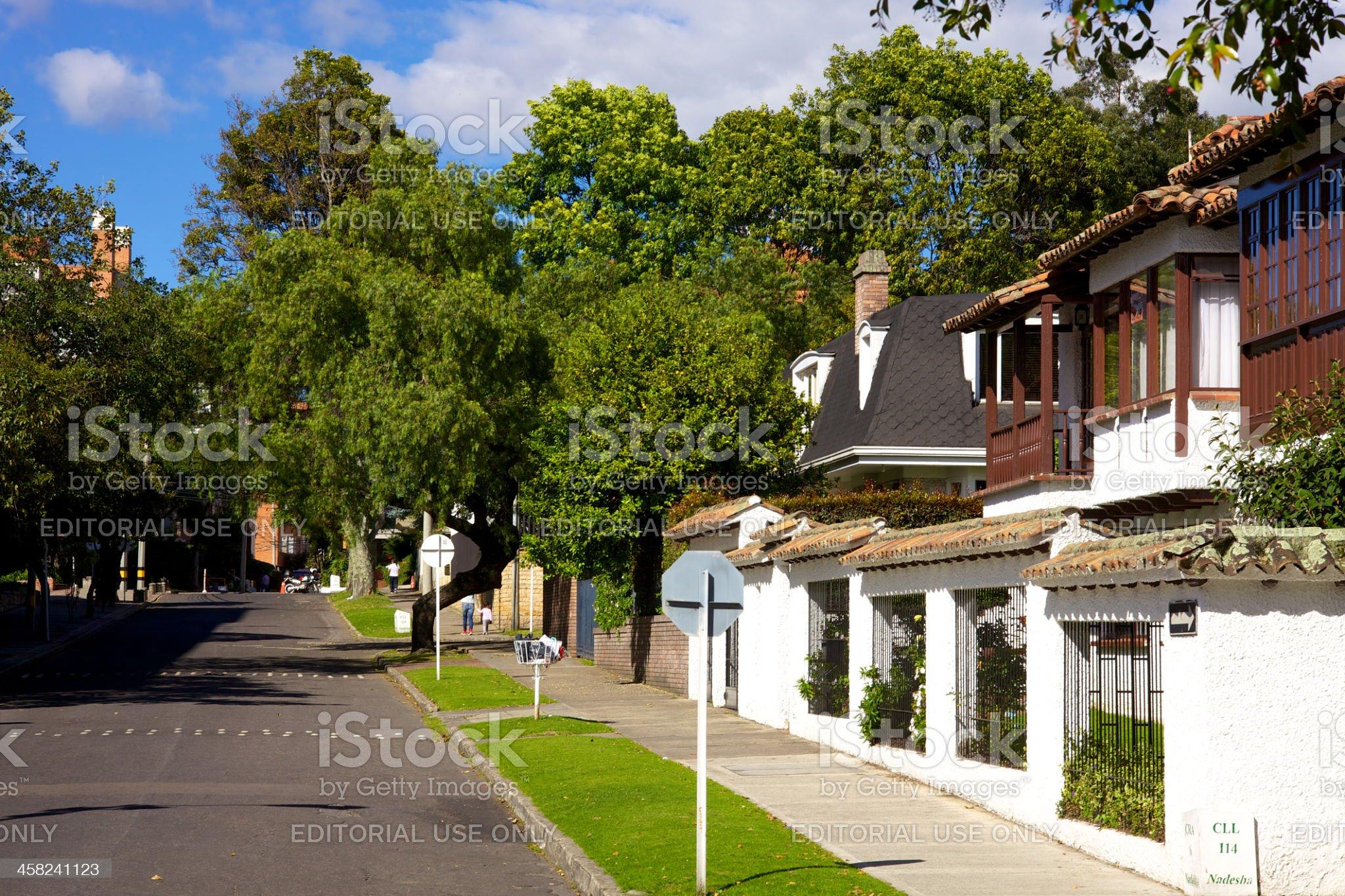 Bogota, Colombia - Carrera Sexta; Spanish colonial architecture royalty-free stock photo
