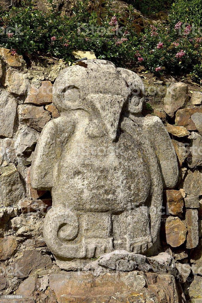 Bogota, Colombia - decorative stone carving on Monserrate stock photo