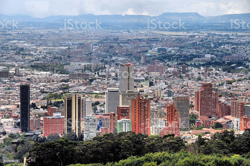 Bogota - Colombia: financial center skyscrapers stock photo