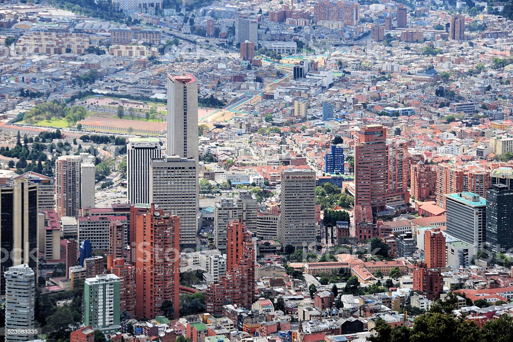 Bogota, Colombia: financial center skyscrapers stock photo