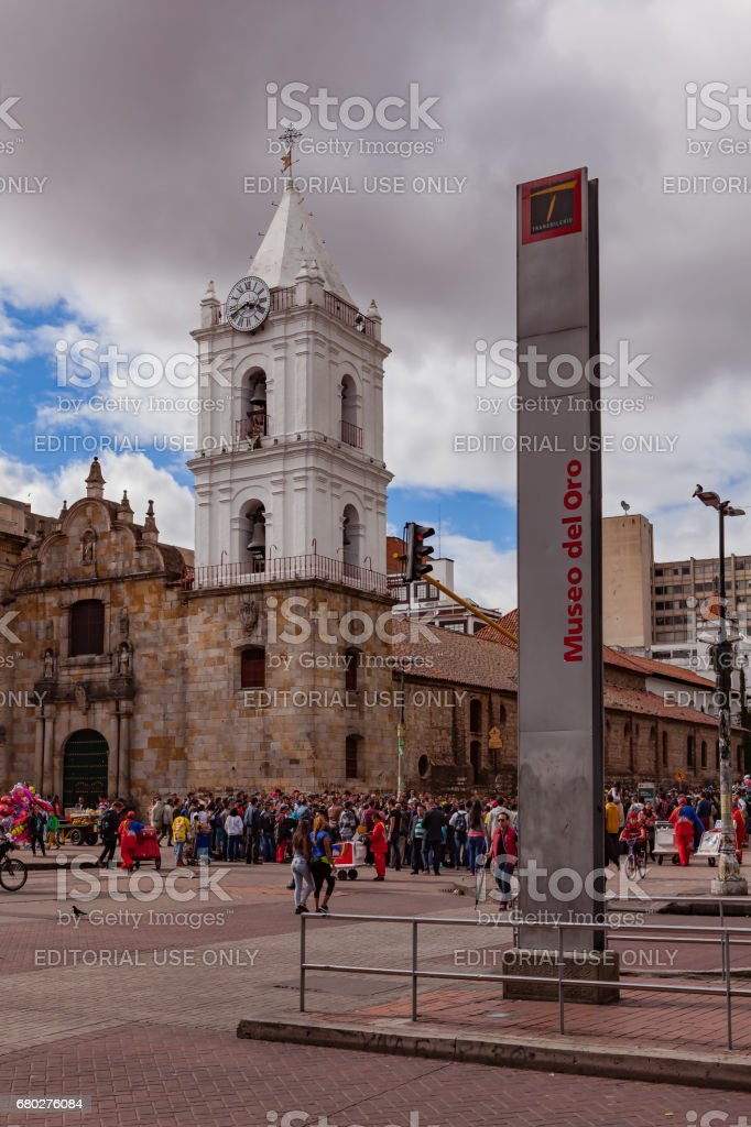 Bogota, Colombia - The Iglesia de San Francisco. Old Church in the South American Capital stock photo