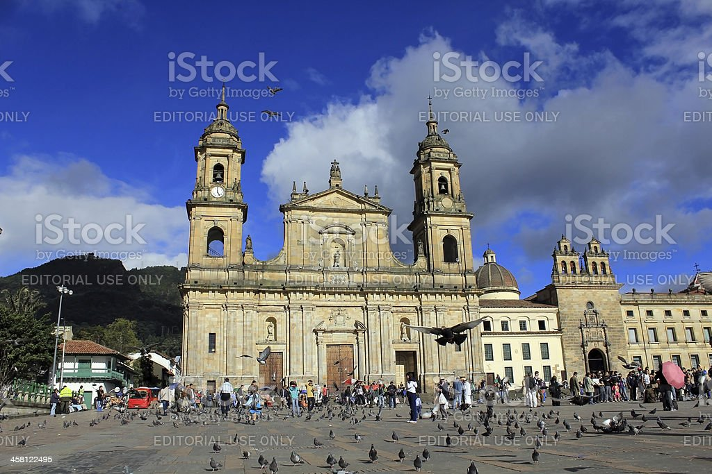 Bogota - Plaza Bolivar stock photo
